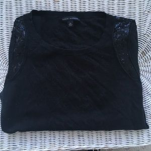 Banana Republic black sweater with sequin.